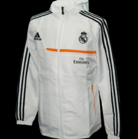 NEW* Adidas REAL MADRID All Weather Windbreaker Jacket Track